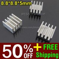 50% OFF + Free Shipping 2,000pcs 8.8*8.8*5mm Ram Heatsink Chipset Aluminum Heat Sink