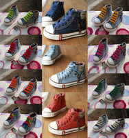 2014 Hot Sale Size25-37 Children Shoes Kids Canvas Sneakers Boys Flats Girls Boots denim jeans 660 sports shoes always available