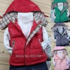New Arrival Excellent Fine Grid Duck Down Jacket Vest Children's Outerwear[iso-11-8-30-A6]