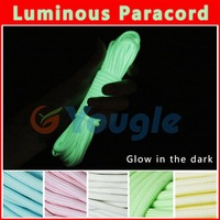 Glow in the dark Luminous Paracord Parachute Cord Lanyard Rope 100 ft (31m) 9 Strands Cores