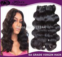 "Soft Enjoy Hair 10""-30"" Virgin Brazilian Human Hair Extensions Body Wave Machine Weave #1B  DHL FREE SHIPPING"