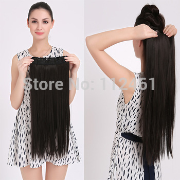 Best selling!1pcs 120g Fashion Women Hair Color One Piece Extension Clip in Straight Hair Extensions Hair Pieces Free Shipping