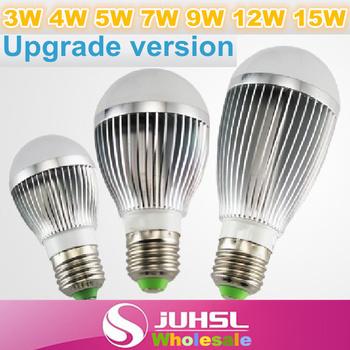 Brightness upgrade,Dimmable,3W,4w,5w,7w,9w,12w,15W,18W,100-240V,silver led bulbs E27/GU10/B22 lamp,LED Spotlights,Light Source