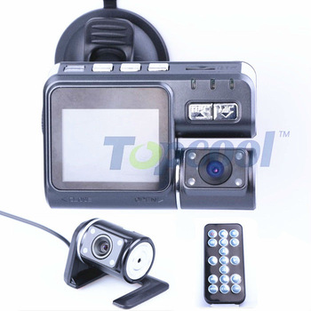Car DVR dual lens Rearview camera Car Camera Video Recorder HD 1280*720P G-Sensor H.264 Extra AV-in Camera 4-LED Original F70