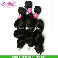 "Peruvian virgin hair Loose Wave  Hair Extension 3pcs/lot(12""-28"") Cheap Price Rosa Beauty Hair Berrys Fashion Products"