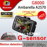 Ambarella G8000 CAR DVR Camera 2.7 inch LCD Screen Full HD 1080P 5M COMS Sensor 170degree lens with G-sensor vehicle DVR