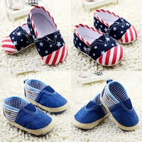 Hot selling 2013 New autumn lovely striped bow sequins comfortable 11cm-13cm girls pre toddler baby shoes high quality