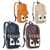 Free Shipping Women's Girls Exclusive Fox Backpack PU Handbag Shoulder Bag Schoolbags Owl Satchel