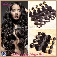 "Peruvian Virgin Hair Body Wave 3pc or 4pc 8""-30"" Human Hair Weave Peruvian Body Wave Cheap Peruvian Hair Realove Hair Extension"