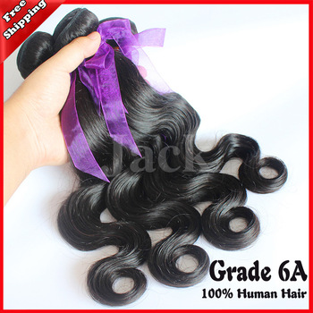 Hair Weaving Cheap Malaysian Virgin Hair Body Wave 3pcs/lot 100g/pc Natural Color 12-30inch Grade 6A,100% Human Remy Hair