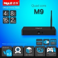 Quad Core Mini PC Android TV Box Android 4.2 MeLE M9 Cortex A7 2GB RAM 16GB ROM 4K Video Full HD 1080P HDMI WiFi Media Player