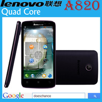original Lenovo A820 phone Russian Menu phone Quad core 1.2G CPU 4.5 inch IPS 4GB ROM 1GB RAM 8MP Camera