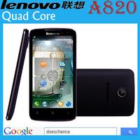 original Lenovo A820 phone Russian Menu phone Quad core 1.2G CPU 4.5 inch IPS 4GB ROM 1GB RAM 8MP Camera Polish Russian menu