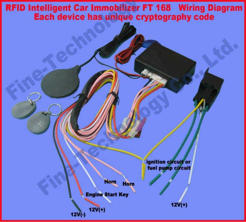 brand new free shipping RFID key fob transponder immobilizer car accessory anti-theft auto-arm car alarm(China (Mainland))