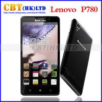 Original Lenovo P780 Quad Core Mobile phones MTK6589 1.2GHz 5.0 inch HD Gorilla Class 1GB RAM 8.0MP 4000mAh battery OTG Dual SIM