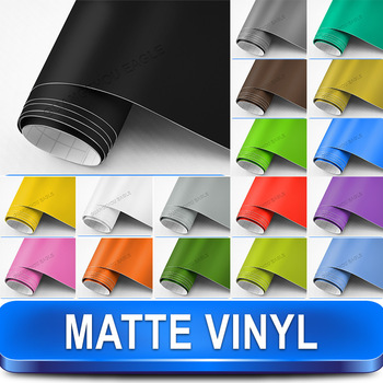 Matte Vinyl Wrap Car Sticker / High Quality Wrapping Sheet / Size: 1.52x30m with Air Release Drains Free Shipping FEDEX