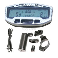Digital LCD Backlight Bicycle Computer Odometer Bike Meter Speedometer SD558A Clock Stopwatch B16 2659