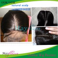 "Hot-selling Silk Top Base Closures Peruvian Virgin Hair Silky Straight Natural Color 3.5""x4/ 4""x4"" natural Scalp"