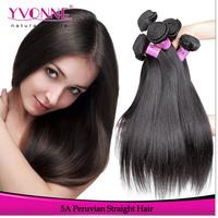 3Pcs/lot Virgin Straight Peruvian Hair,Grade 5A Remy Human Hair Extension,Natural Color,12~28 Inches Aliexpress Yvonne Hair