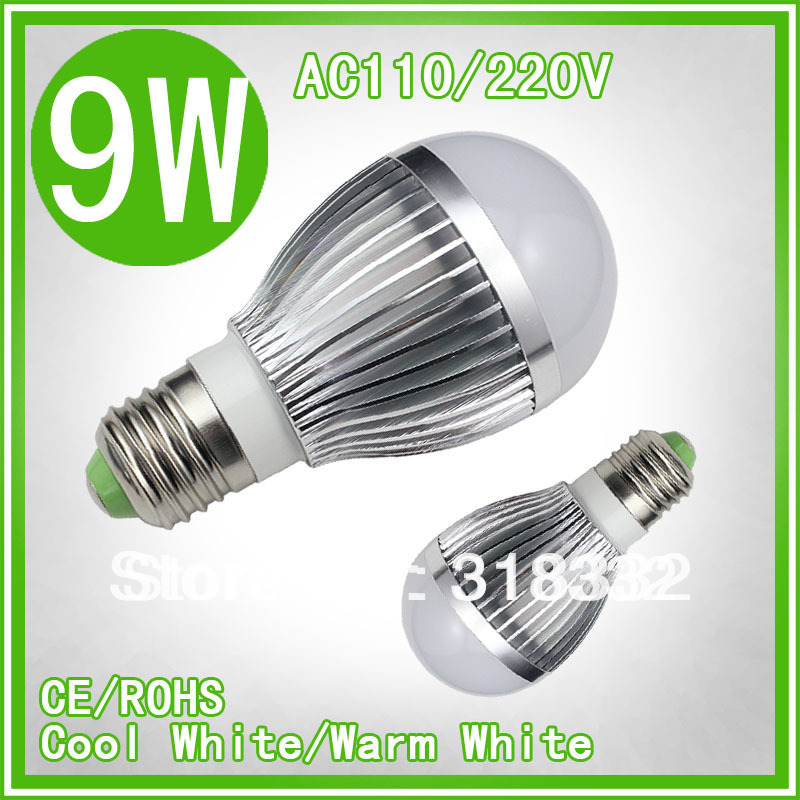 10PCS Upgrade! The lastest generation 9W LED bulb,DImmable Bubble Ball bulb higher quality lowerprice E27 2 year warranty(China (Mainland))
