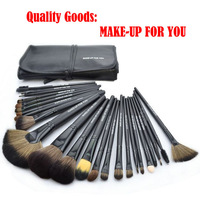 Free Shipping, Light Black Professional 24 Pcs Brand  Cosmetics Makeup Brushes Tool  Make up  Brushes Set