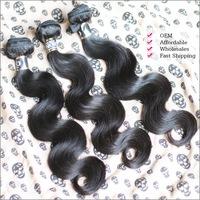 Rosa Hair Products Brazilian Virgin Hair Body Wave 100% Human Hair Extensions 4Pcs Lot Sale No Tangles and No Sheding 5A