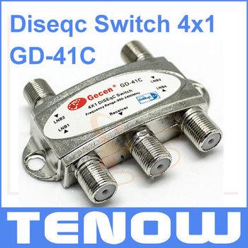 HOT! Gecen GD-41C 4 x 1 Satellite Diseqc Switch for FTA DVB-S2 Receivers