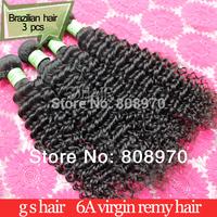 2014 Fashion Brazilian virgin hair weave deep curly 3bundles lot unprocessed human hair  fast ship betterqueen hair products