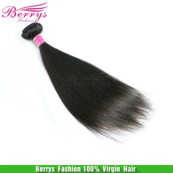 Berrys Fashion Hair Peruvian straight virgin hair 8a, 2pcs/lot  (8inch-34inch) Unprocessed Hair Machine Wefts Soft bundle hair