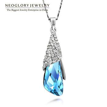 Neoglory Austria Crystal Rhinestone Necklaces & Pendants for Women Fashion Charm Jewelry 2014 New Brand Classic Elegant HE1