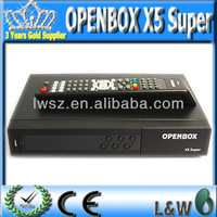 Satellite TV Receiver Original Openbox X5 Super full 1080p with VFD Display 2 USB Port support Youtube Gmail  Free Shipping