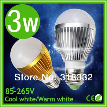 10pcs wholesale The lastest generation 3W LED bulb DImmable Bubble Ball bulb higher quality led lamps E27 led bulbs lighting