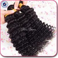 6A virgin hair brazilian deep wave virgin hair 3 pcs lot free shipping brazilian curly virgin hair brazilian hair weave bundles