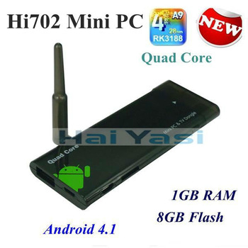 CX-919 Android 4.2 Mini PC TV Stick Box RK3188 Quad Core Cortex A9 1.8GHz 1GB RAM 8GB ROM WiFi Antenna Bluetooth