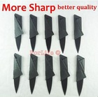 Hot Selling no Sinclair Cardsharp logo Credit Card Knife Wallet Folding Safety Knife Pocket Camping Hunting knife no logo 6pcs(China (Mainland))