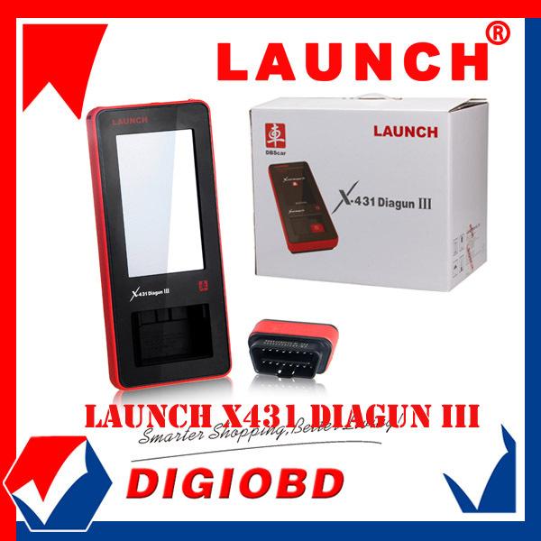[Authorized Distributor] 2014 New Arrival Auto Diagnostic Scanner Launch X431 Diagun III 100% Original Update via internet X-431(China (Mainland))