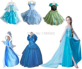 Отправка в ближайшее время высший сорт 2015 костюм платье принцессы блестками костюм с длинным рукавом алмаз платья девушки платье