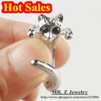 HOT Promotion Rhinestone Cat Adjustable Rings Fashion Rings For Women 2013 20pcs/lot Free Shipping