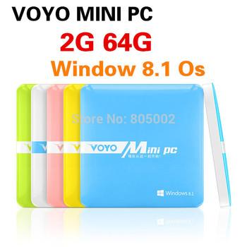 Windows VOYO mini PC Intel  Quad core 2GB RAM 64GB ROM,windows8.1 mini pc computer with USB HDMI