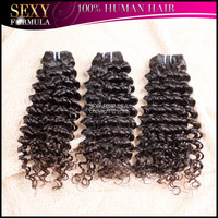 Sexy Formula Curly  Brazilian Virgin Human  Hair Weave 2015 New Arrival Best Quality 3 Bundles Deep Curly Free Shipping
