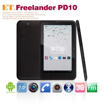 Hot Freelander PD10 3G dual core 7inch QHD tablet pc MTK 6577 1.2Ghz Android 4.0 1GB RAM 8GB GPS camera wcdma phone call