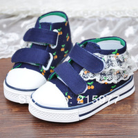 Free shipping new sequins set auger panda bowknot leisure children's shoes boys and girls gold/champagne color  size:2-13