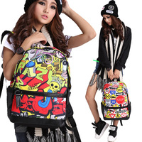 2014 colorful Printing fashion backpack bags for high school girls 2014, with iPad, iPhone pocket, top selling, BBP121