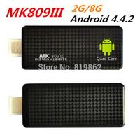 New MK809III RK3188 Quad Core Cortex A9  Androind 4.4 Mini PC TV Stick 2G/8G Bluetooth Wifi Google TV Box HDMI MK809 III