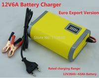 12V Car  Battery Charger 12V lead acid battery charger 12V Motorcycle Battery Charger12V6A Car Charger +One free Power adapter