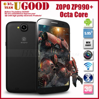"Zopo Zp990 Quad Core MTK6589T 1.5GHz Captain S 6.0"" 1920*1080p Gorilla Android phone Pad 13Mp Camera Ad Free Battery & Flip case"