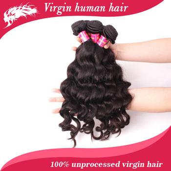 6A unprocessed virgin hair 5pcs lot  free shipping brazilian virgin hair extension wave human hair