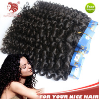 Brazilian Curly Virgin Hair Spiral Curl 3pcs/lot 100% Human hair weave free shipping hair extensions for your nice hair hot sale