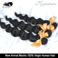 Mocha Hair 3 Or Mix 3 pcs Lot  7A Grade Loose Wave Brazilian Virgin Hair Extensions Wholesale Natural Color Tangle Free