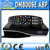 Digital Satellite TV Receiver Dm800se White Color !! Dm800hd se Original SIM A8P Security Card Emigine 2 FEDEX Free shipping